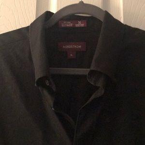 Nordstrom. Black button down XL
